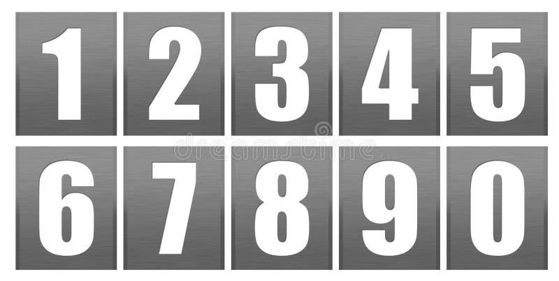 Digits set - Grey. Grey textured digits set isolated over white background stock illustration