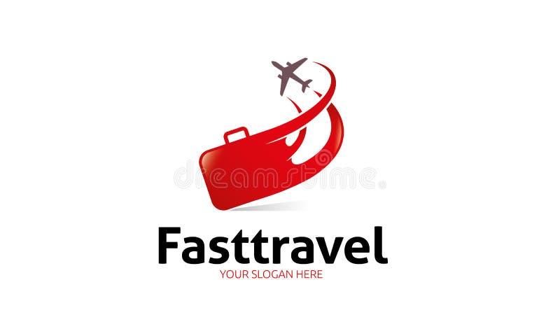 Digiuna il logo di viaggio royalty illustrazione gratis