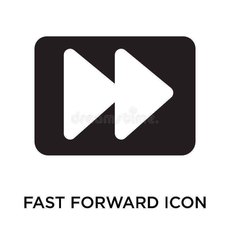 Digiunano il segno di andata ed il simbolo di vettore dell'icona isolati su backg bianco illustrazione di stock