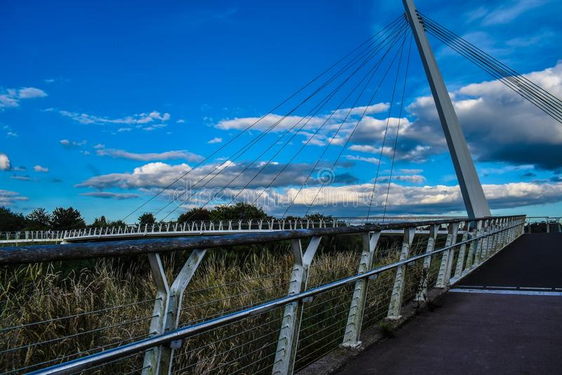 Diglis bridge stock image