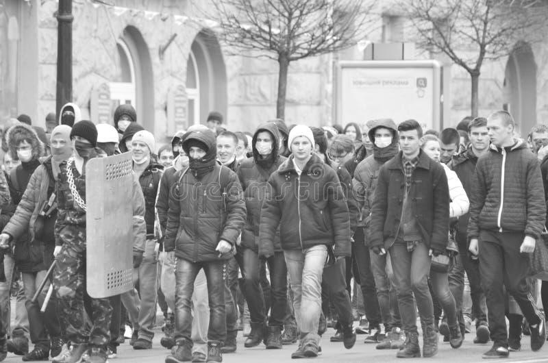 Dignidade Ucrânia Lutsk da revolução fotos de stock