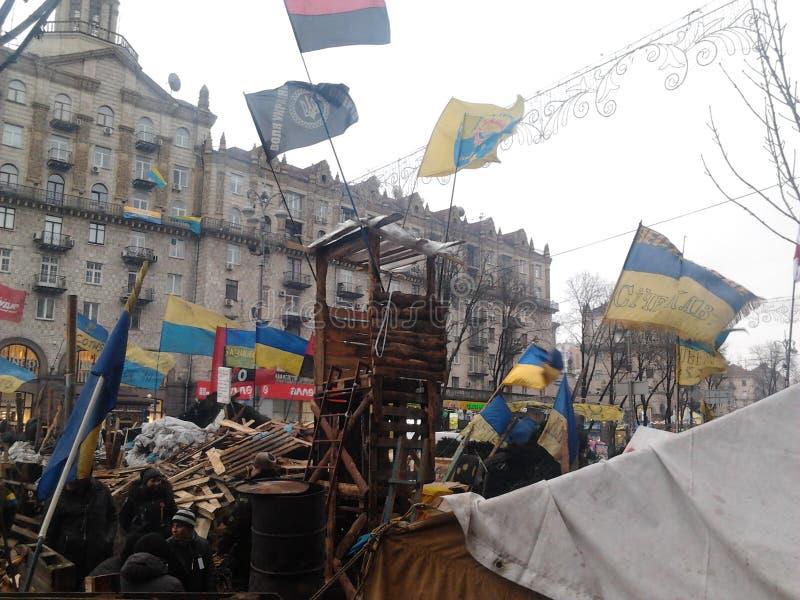 Dignità ucraina Euromaidan di rivoluzione immagine stock libera da diritti