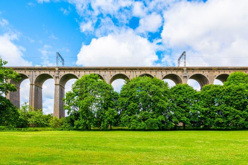 Digswell高架桥在英国 库存照片
