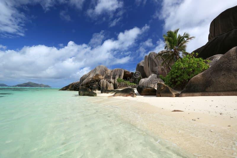 digue海岛la塞舌尔群岛 库存图片