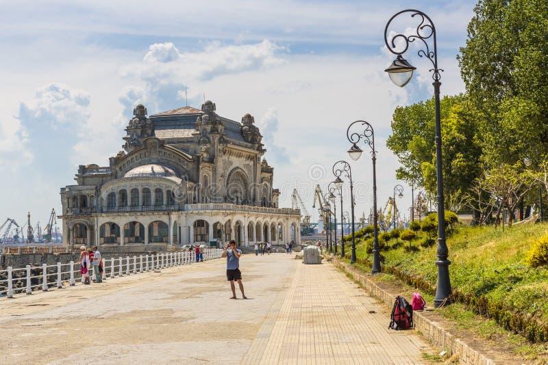 Digue de casino, Constanta, Roumanie images stock