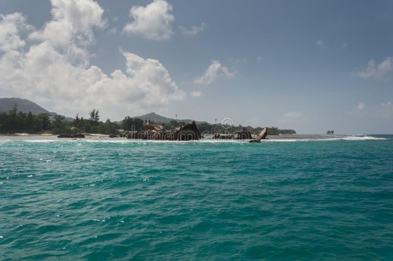 digue la塞舌尔群岛 免版税库存图片