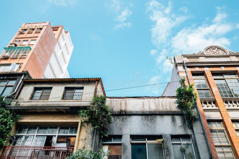Dihua Street old buildings in Taipei, Taiwan. Dihua Street, old buildings in Taipei, Taiwan stock images