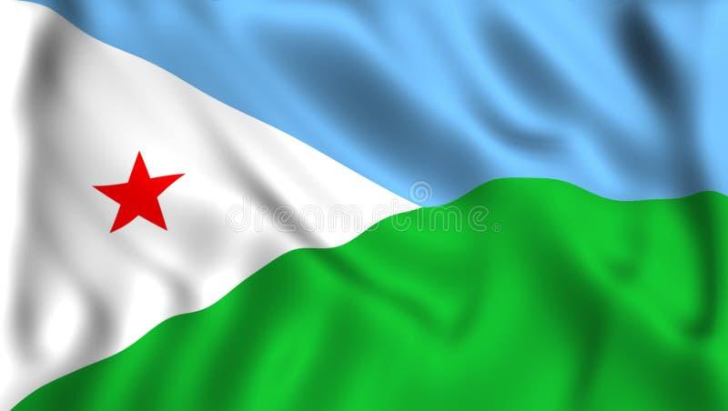 Dijibout flaga falowanie w wiatrowym symbolu ilustracji