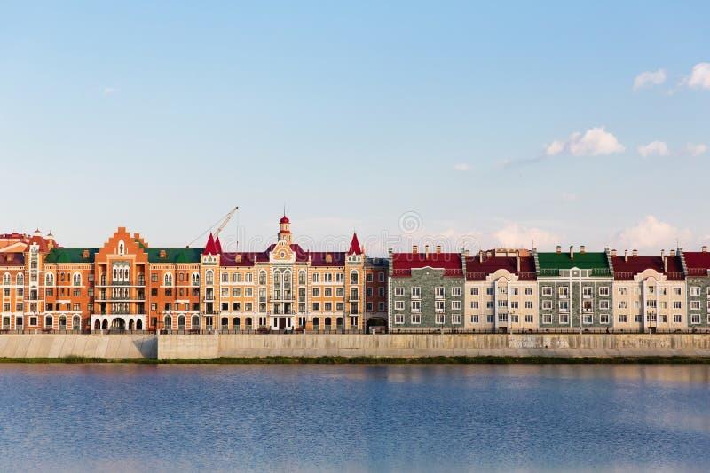 Dijk Brugge in Yoshkar-Ola, Rusland stock fotografie