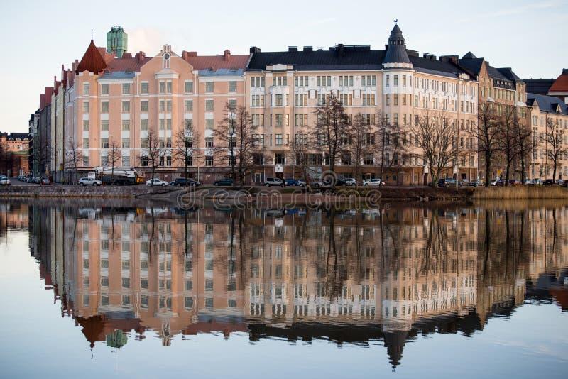 Dijk in Helsinki royalty-vrije stock foto's