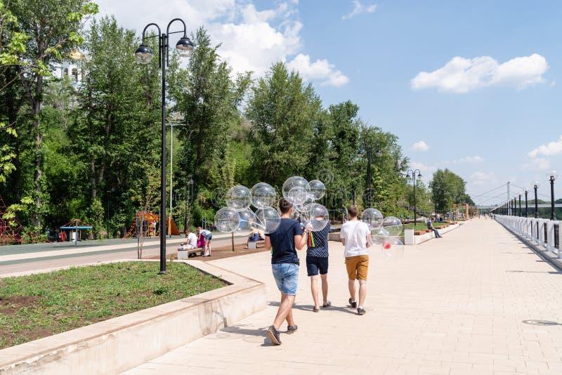 Dijk van Ural stock foto's