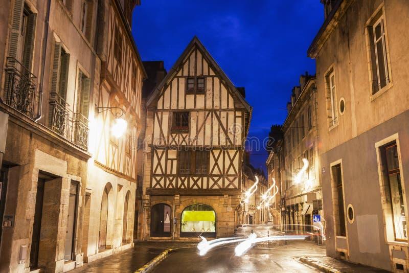 Dijon Old Town en la noche fotografía de archivo libre de regalías