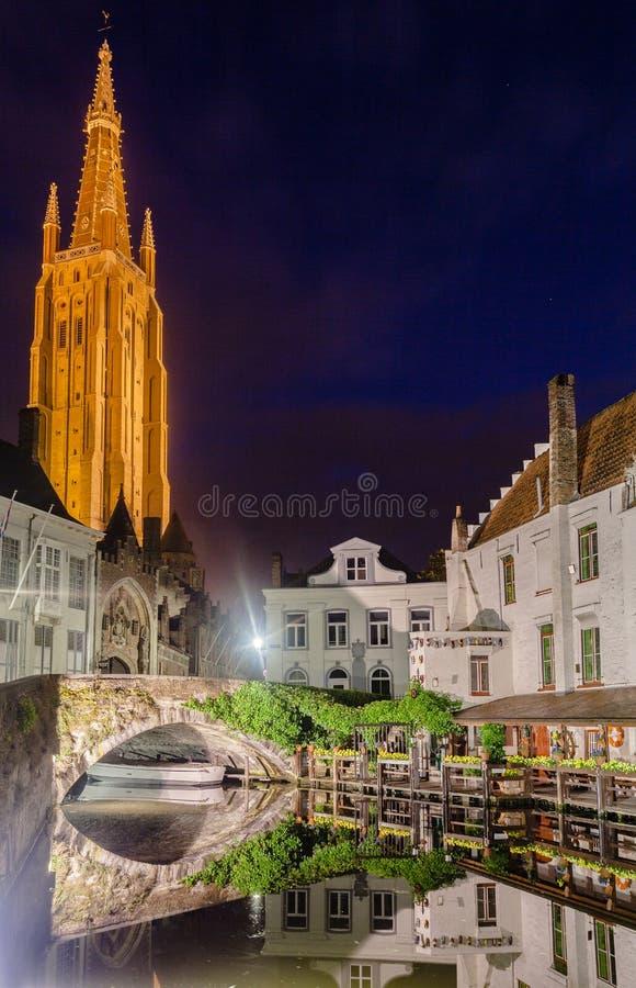 Dijverkanaal in Brugge België stock foto