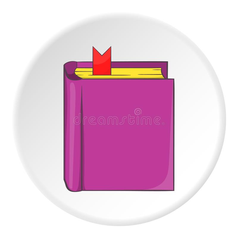 Dik boek met referentiepictogram, beeldverhaalstijl vector illustratie