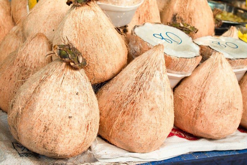 Dik kokosvlees, heerlijk het stock afbeelding