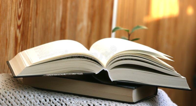 Dik open boek stock foto's