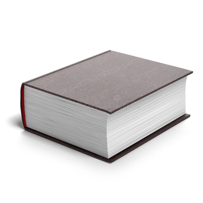 Dik rood boek stock illustratie