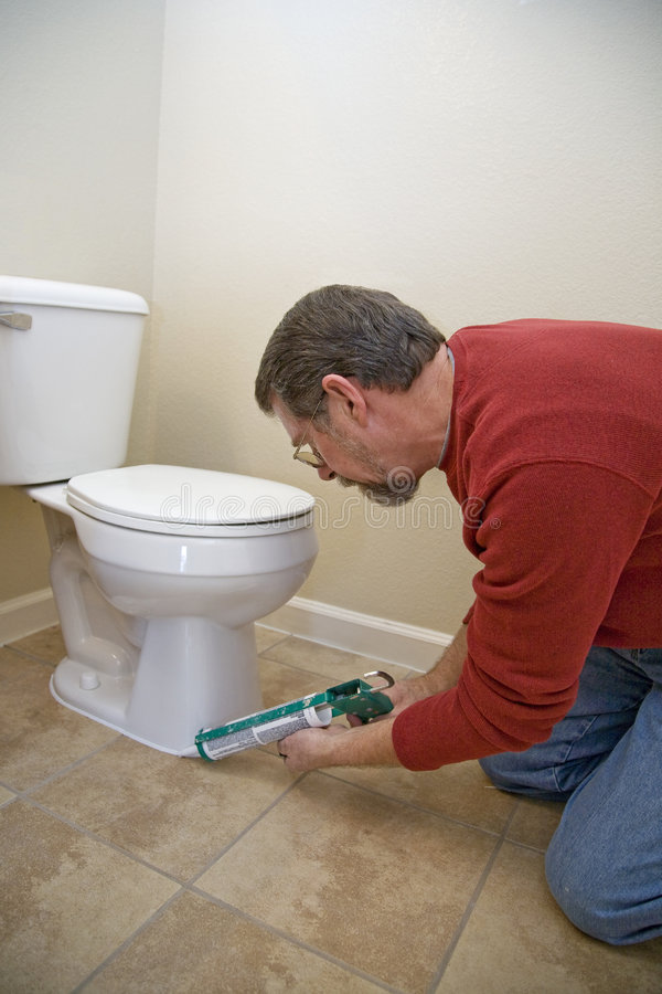 dikta toalett royaltyfri foto