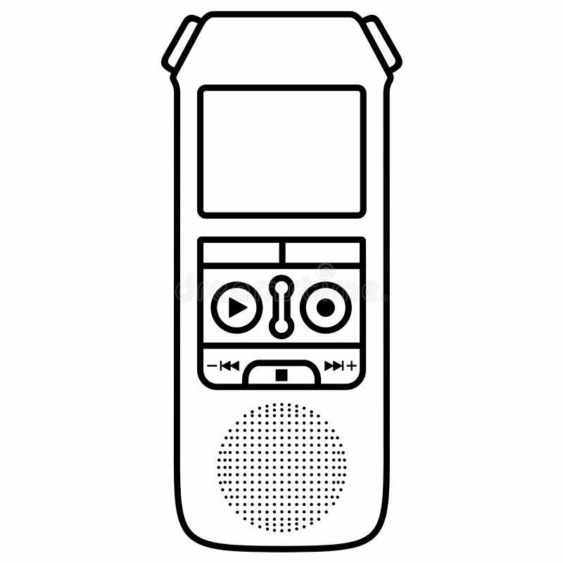 Diktaphon, Stimme, die digitales Gerät notiert stockbild