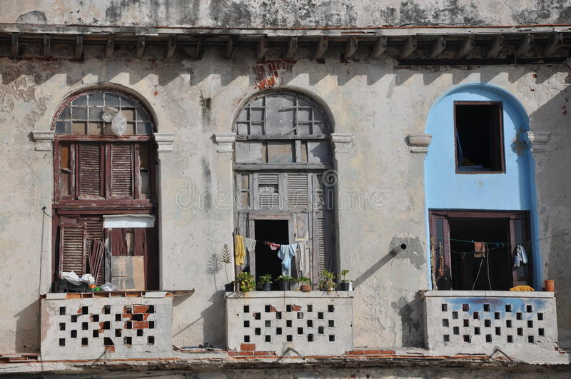 Download Dilapidated Balconies In Havana, Cuba Royalty Free Stock Images - Image: 26142739