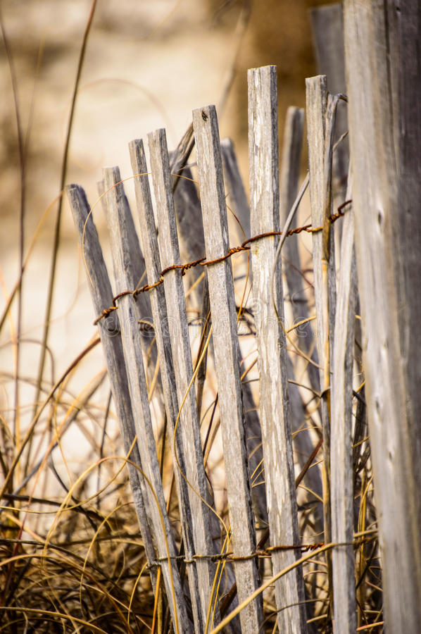 Dilapidated fence stock image