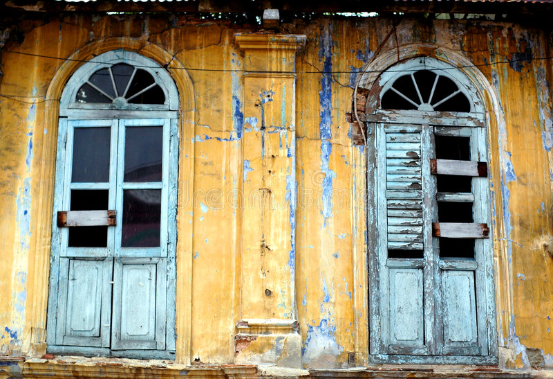 Dilapidated Huisvesting royalty-vrije stock foto