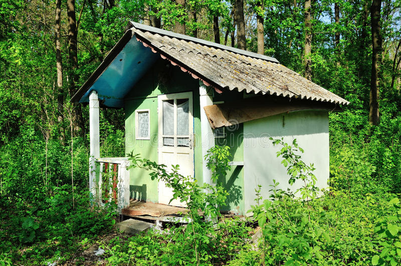 Dilapidated Old Small House Royalty Free Stock Photo