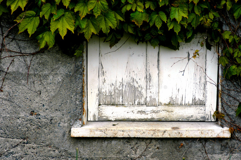 Dilapidated Window Sill Stock Photo