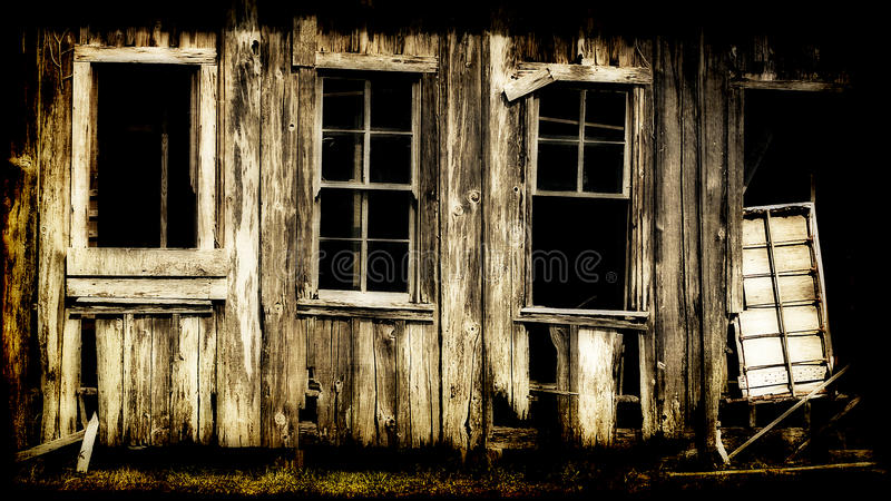 Download Dilapidated Wooden Building Stock Photo - Image of destroyed, unmaintained: 15576778