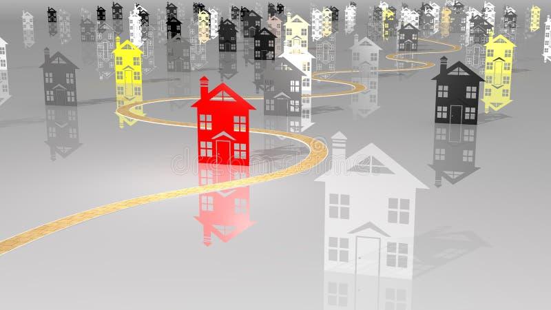 dilema住房选择 库存例证