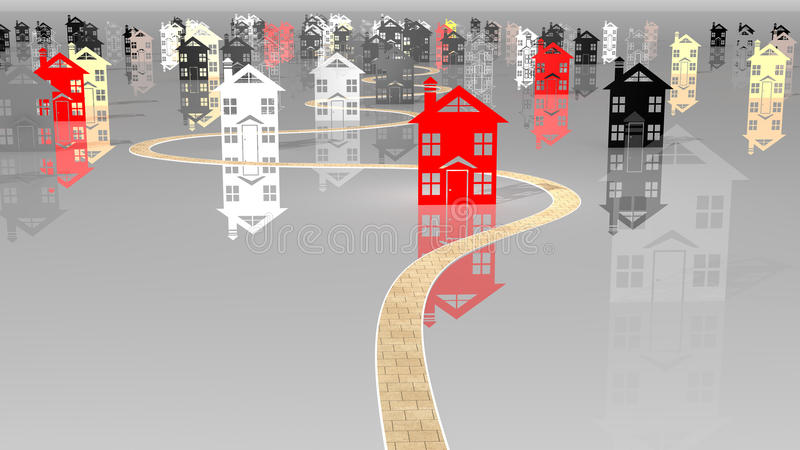 Download Dilema housing selection stock illustration. Image of estate - 20144192
