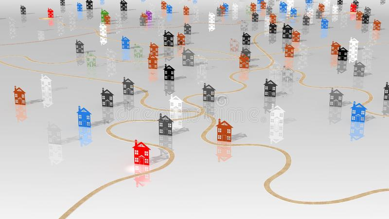 Download Dilema housing selection stock illustration. Illustration of logo - 20218748