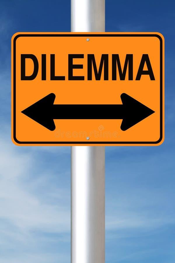 Dilemma stockbild