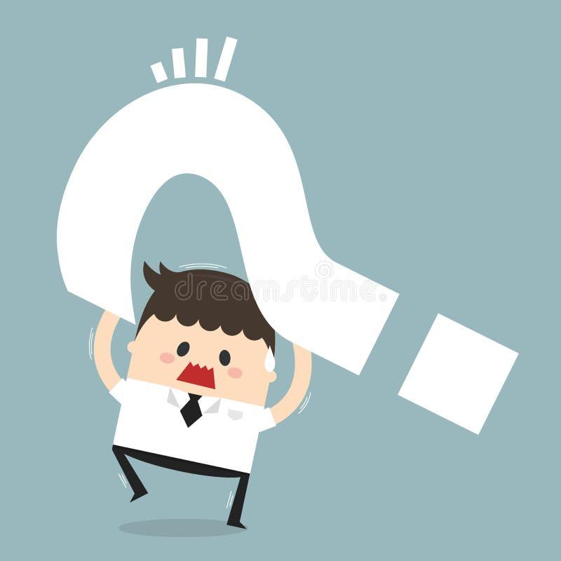 Dilemma des Geschäftsmannes, flaches Design stock abbildung