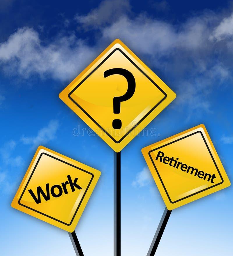 Dilemme de l'épargne de retraite de travail image stock