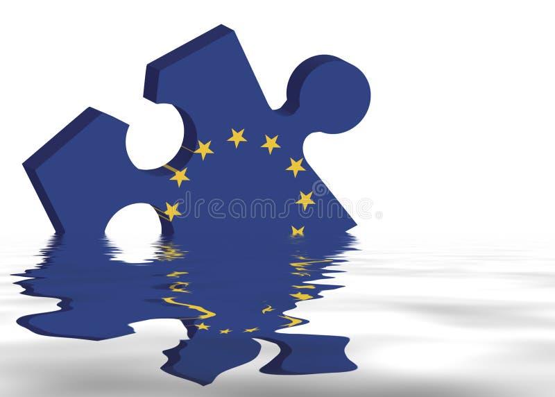 Dilemme européen illustration stock