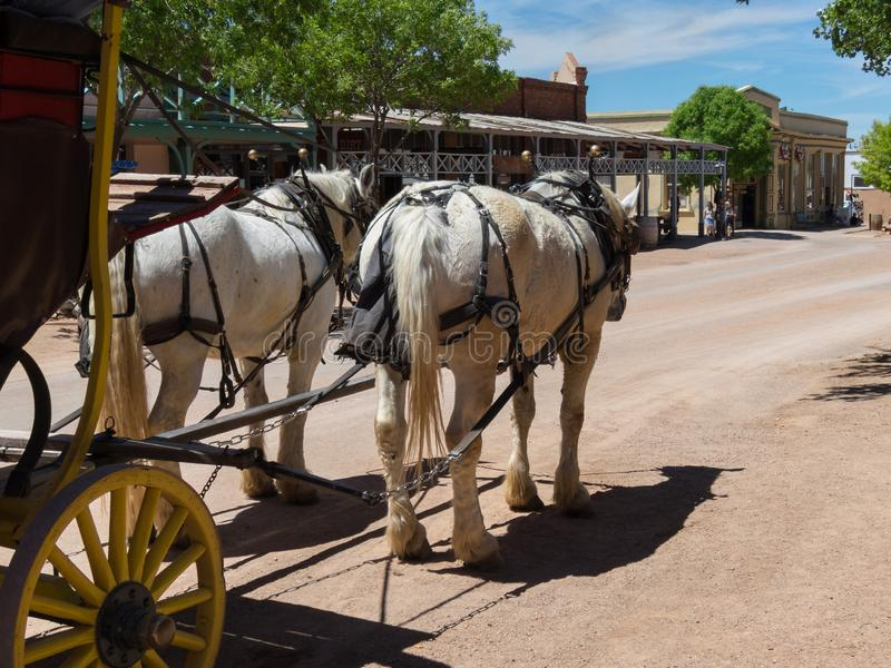 Diligence, Main Street, pierre tombale, Arizona images libres de droits