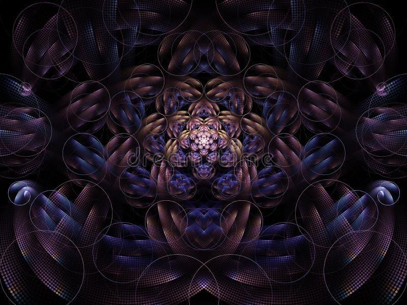 Diligent Birth Circles Flame Fractal royalty free illustration