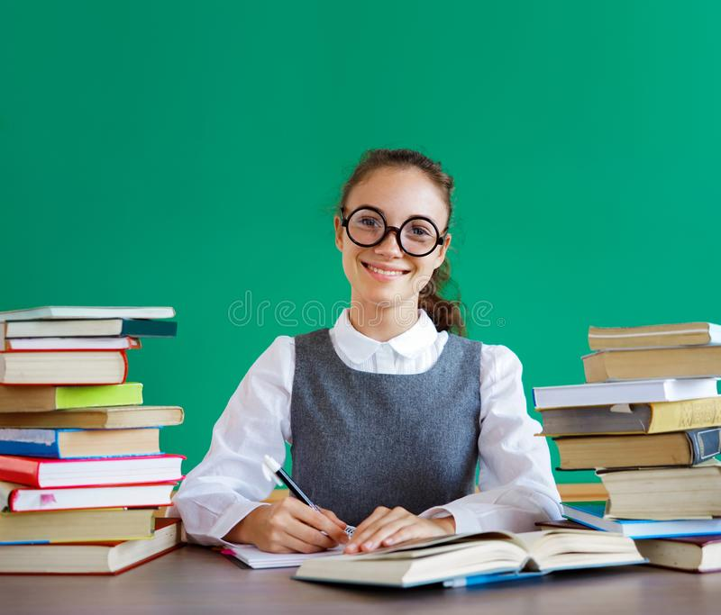 Diligent student, ready to learn. royalty free stock photos