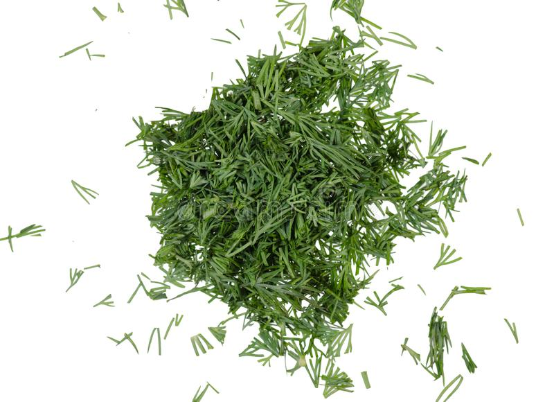 Dill chopped top view royalty free stock photography