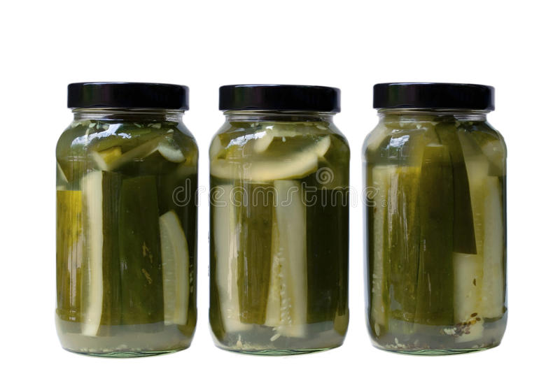 Dill Pickles Spears Stock Photography