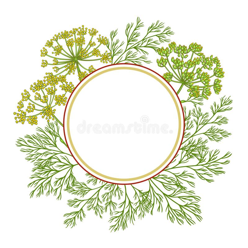Free Dill Vector Frame Royalty Free Stock Photography - 140712427