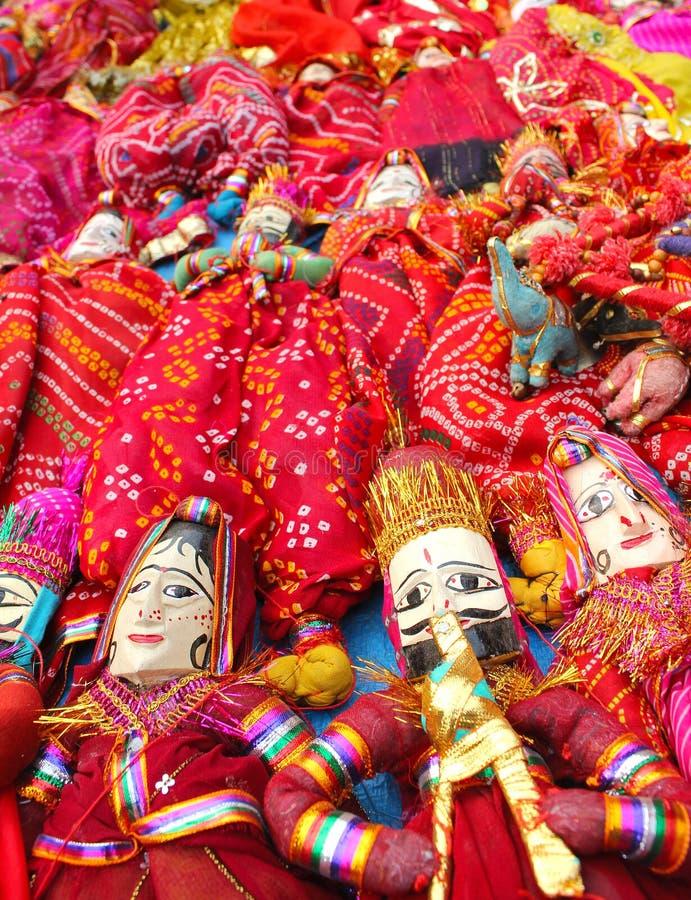 Dilli haat, rajasthani puppet stock photo