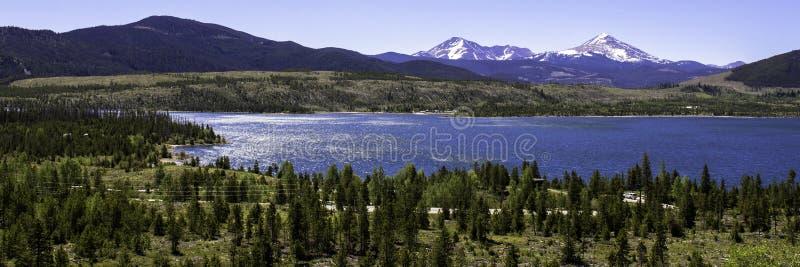 Dillon Reservoir en Colorado foto de archivo