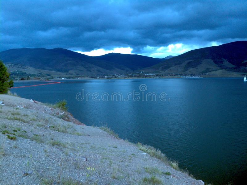 Dillon resevoir Colorado fotografia royalty free
