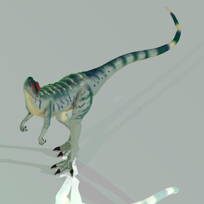 dilophosaurus illustration de vecteur