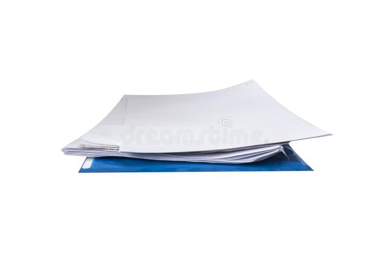 Dilua a pilha dos originais de papel do escritório fotografia de stock