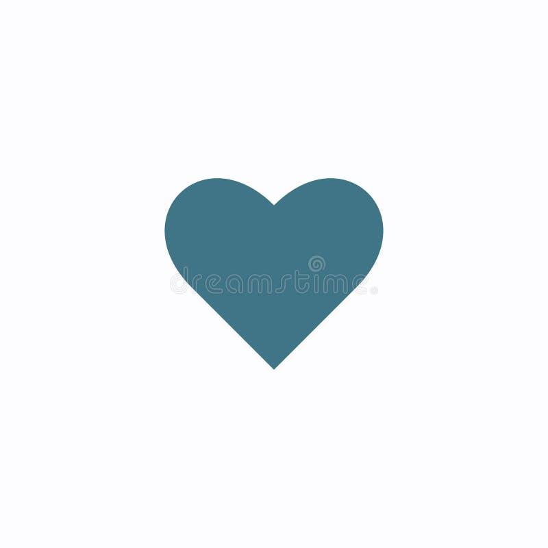 Diluez la ligne ic?ne d'amour de coeur ?l?ment plat g?om?trique de forme Illustration abstraite d'ENV 10 Signe de vecteur de conc illustration libre de droits