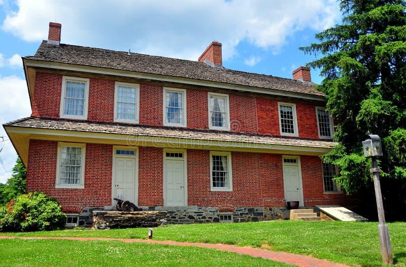 Dilworthtown, PA: Dilworthtown-Gasthaus 1758 lizenzfreies stockbild