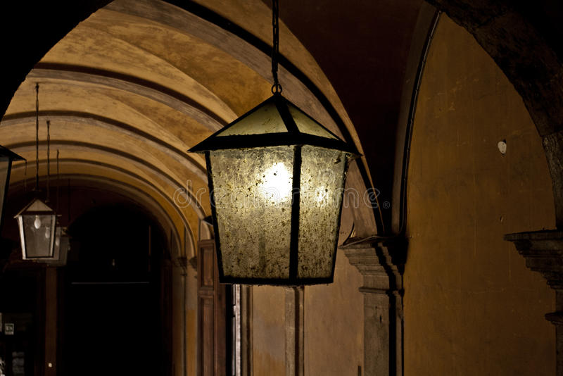 Dim Lamp stock photo